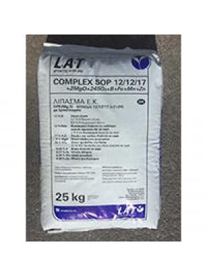 COMPLEX 12/12/17+2MgO+24SO3+B+Fe+Mn+Zn (100% SOP)